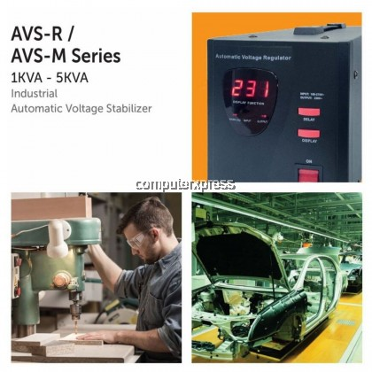 (PRE-ORDER 10 DAYS) NEUROPOWER AVS-R2K0 2KVA Type Tap-Switching Relay Industrial Automatic Voltage Stabilizer