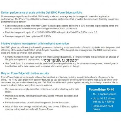 Dell EMC PowerEdge R440 Rackmount Server