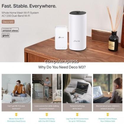 TP-Link Deco M3W AC1200 Whole Home Mesh Wi-Fi Add-On Unit