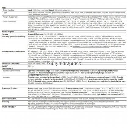 HP COLOR LASERJET PRO MFP M183FW PRINT SCAN COPY FAX NETWORK WIRELESS PRINTER
